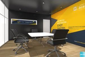 3D立体logo标志企业文化办公室设计VI样机展示模型mockups插图4