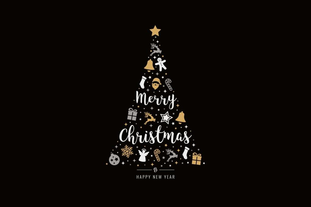 圣诞主题图标元素矢量树图形图片 Christmas Icon Tree Vector Elements插图