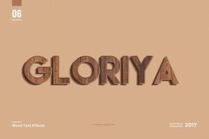 8款超逼真木纹效果PS字体样式 8 Wood Text Effects插图8