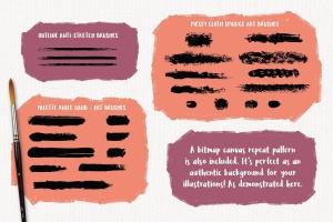 高品质油画质感AI画笔笔刷 Outstanding Oil Paint Brushes插图10