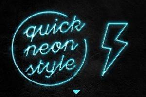 霓虹灯字体文本图层样式 Neon Pro text effect插图2