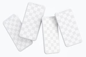 iPhone X智能手机APP设计演示黏土样机模板 Clay iPhone X Mockup 06插图4