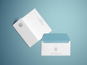 办公文具信封和信头样机模板插图2