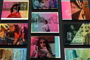 设计媒体创意设计效果图预览等距网格样机模板02 Landscape Perspective Mockup 02插图2
