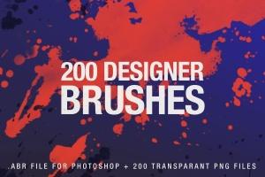 200款数码绘画PS笔刷合集 200 Designer Brushes for Photoshop插图1