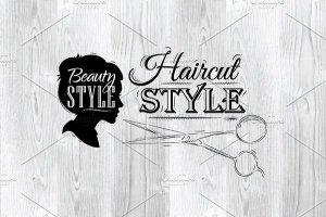 美容美发复古风格素材 Beauty salon插图4