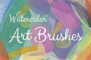 水彩数码绘画艺术大师AI画笔笔刷 Watercolor Illustrator Art Brushes插图(1)