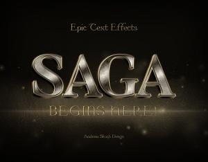 史诗文字标题字体效果PSD图层样式模板 Epic Text Effects插图4