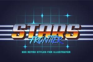 80年代复古插画风格PS字体样式 for AI 80s Retro Illustrator Styles插图7