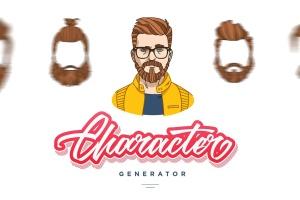 卡通人物角色头像设计生成器 Character Generator插图1