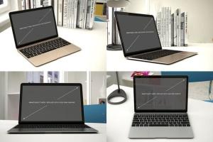 12款Macbook笔记本电脑设备样机 Laptop Mockup – 12 Poses插图3