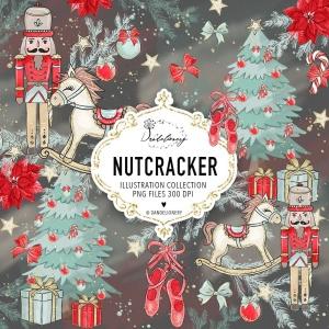 圣诞节胡桃夹子矢量手绘设计素材 Christmas Nutcracker design插图5