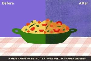 美食手绘插画着色Procreate笔刷 Yummy Shaders for Procreate插图3