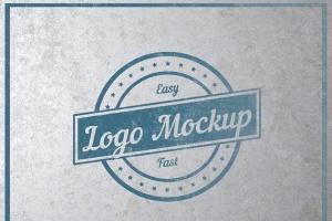 平面logo木板背景纹理样机 Logo Flat Mockup插图9