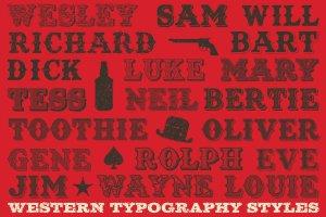 复古西部牛仔电影风格AI图层样式 Western Typography Saloon插图7