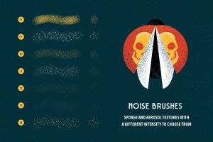 用于Illustrator的复古明暗效果纹理&噪点笔刷 Shader Brushes for Illustrator插图(3)