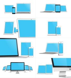 57种不同的苹果手机电脑设备VI样机展示模型mockups插图6