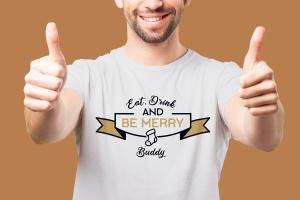 圣诞节主题T恤创意徽章印花设计素材 Merry Christmas T-Shirt. Vector Print, Holiday SVG插图3