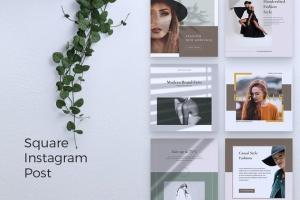 品牌服装Instagram品牌故事设计模板 NICHA Instagram Post插图4