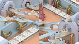 3D建模圣诞节主题概念工厂场景PNG素材 Christmas Factory插图5