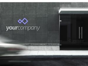 公司建筑Logo标志设计效果图样机模板 Company Building Sign Mockup插图1