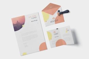 品牌VI体系设计方案办公用品预览图样机模板 5 Stationery Design Mockups插图6