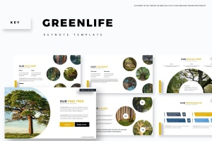 绿色大自然主题Keynote幻灯片模板素材 Greenlife – Keynote Template插图1