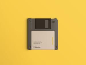 古董软盘外观设计样机模板 Floppy Disk Mockup插图1