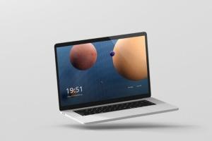 高分辨率笔记本电脑样机 Laptop Screen Mockup插图2