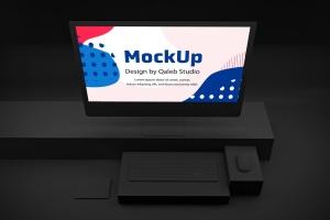 暗黑背景iMac Pro苹果一体机电脑样机模板 Dark iMac Pro插图3