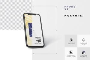 iPhone XR智能手机多角度屏幕预览样机模板 Phone XR Mockup插图7