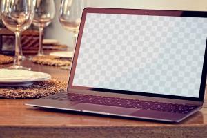 实景MacBook笔记本屏幕演示效果样机01 Macbook Mockup 01插图2