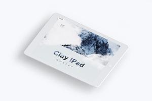 iPad平板电脑屏幕界面设计图样机模板02 Clay iPad 9.7 Mockup 02插图1