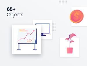 一流设计素材网下午茶:时尚高质量的场景组件生成器[Sketch,XD,fig,PSD]插图3