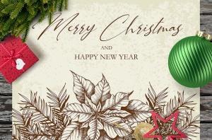 圣诞主题复古设计风格素材包[元素/背景/无缝纹理] Merry Christmas Vintage Design Kit插图5