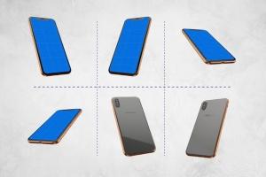 360度全方位 iPhone X 样机模板 iPhone X Kit Mockup插图6