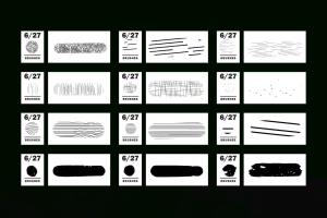 漫画和半色调Procreate笔刷 Comics & Halftone: Procreate Brushes插图3