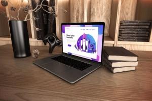 真实场景Macbook笔记本网页UI设计展示样机v1 MacBook Pro V.1插图4
