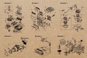 复古视听电器可视化结构矢量图形素材 Retro Diagrams – Audio Visual Edition插图4