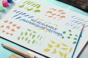 抽象艺术水彩设计套装 Watercolor Design Bundle插图(3)