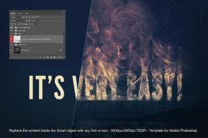 大气烟雾萦绕字体特效PSD分层模板 Smoke Logo Text Effect插图4