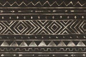 创意阿兹特克水彩画笔笔刷 Aztec Watercolor Brushes插图3