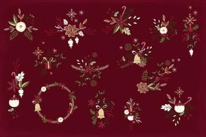 圣诞节主题矢量手绘剪贴画素材 Christmas Cliparts插图5