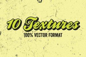 做旧污迹矢量文本特效AI图层样式 Vector Textures Volume 4插图2