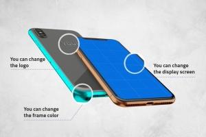 360度全方位 iPhone X 样机模板 iPhone X Kit Mockup插图3