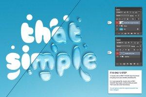 逼真水滴水纹效果PS字体样式 WATER TEXT EFFECT插图5
