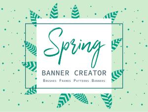 一流设计素材网下午茶:春季广告banner设计矢量素材[Ai]插图1