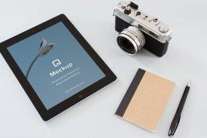 12款苹果笔记本&平板样机模板 Mockup Pack – 12 PSDs插图6