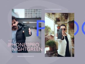 一流设计素材网下午茶:暗夜绿iPhone 11 Pro展示样机套装[Psd /Sketch]插图6