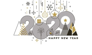 扁平设计风格彩色线条新年庆祝主题概念插画素材 Flat Thin Color Line Concept of Happy New Year插图5